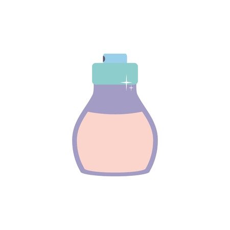 Isolated perfum bottle icon flat design Vectores