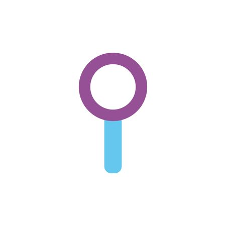 Isolated lupe icon flat design