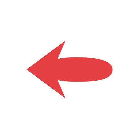 Na białym tle czerwona strzałka ikona wektor wzór