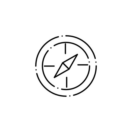 Isolated compass icon line design