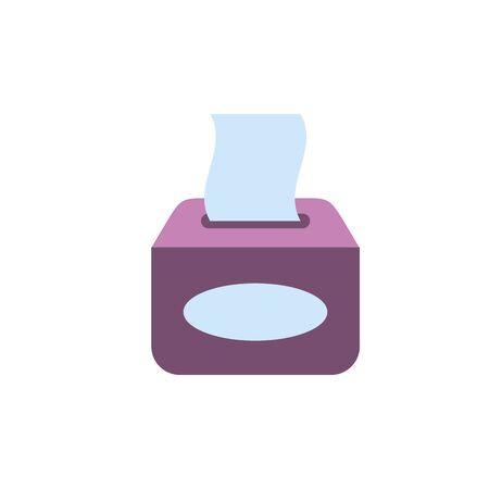 Isolated tissues icon flat design Çizim