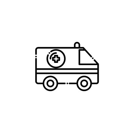 Isolated medical ambulance icon line design