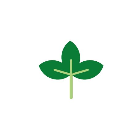 foliage nature leaf icon flat