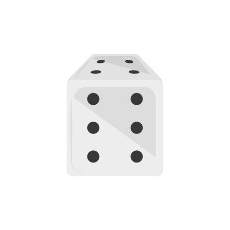 Isolated casino dice flat design