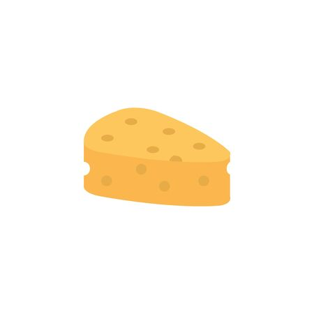 Isolated cheese flat design