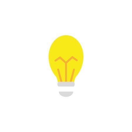 bulb energy electricity light flat icon