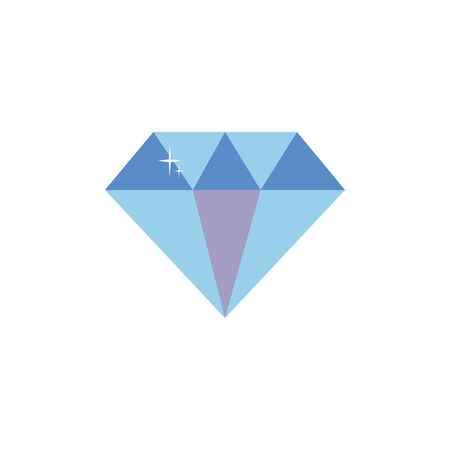 Isolated diamond icon flat design