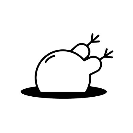 Isolated chicken icon line design