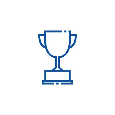 Isolated trophy icon line design