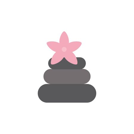 Isolated spa stones icon flat design