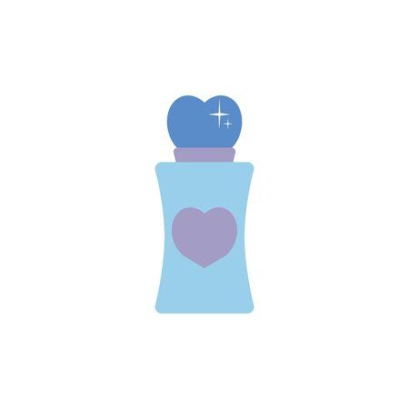 Isolated perfum bottle icon flat design Illustration