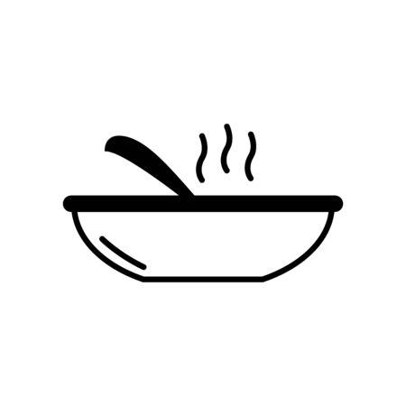 Isolated kitchen plate line design Illusztráció