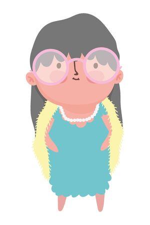 Grandmother cartoon vector design vector illustration Çizim