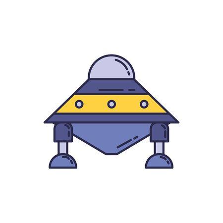 spaceship universe fill style icon vector illustration design