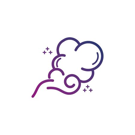 blows steam cloud smoke gradient icon illustration 向量圖像