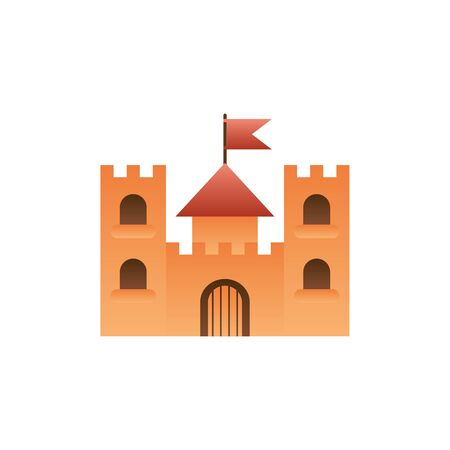 castle with flag fantasy gradient style