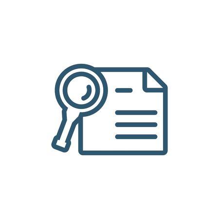 icône de style de ligne de recherche d'analyse de document