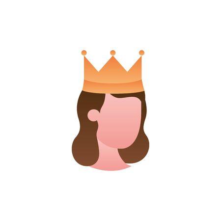 queen with crown fantasy gradient style Illusztráció