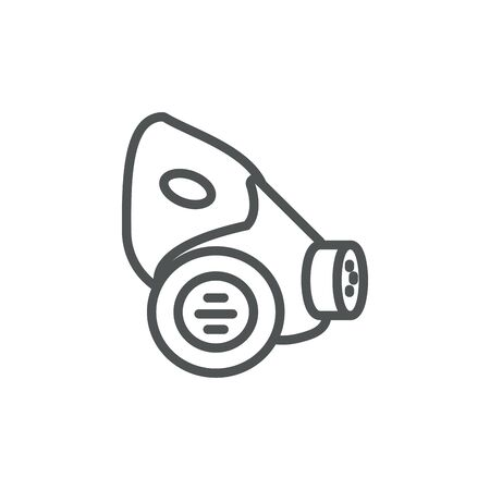 respirator industrial protection safety line Banque d'images - 133793372