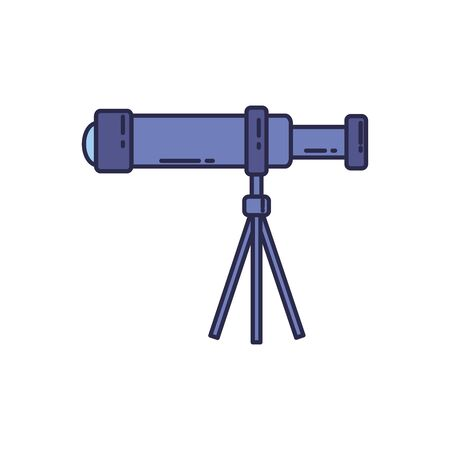 universe telescope fill style icon Иллюстрация