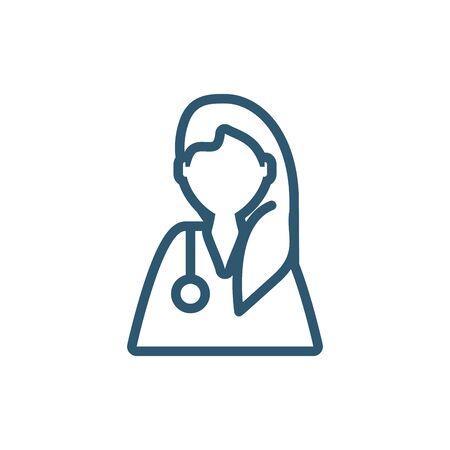 woman scientific profession research line style icon Illusztráció