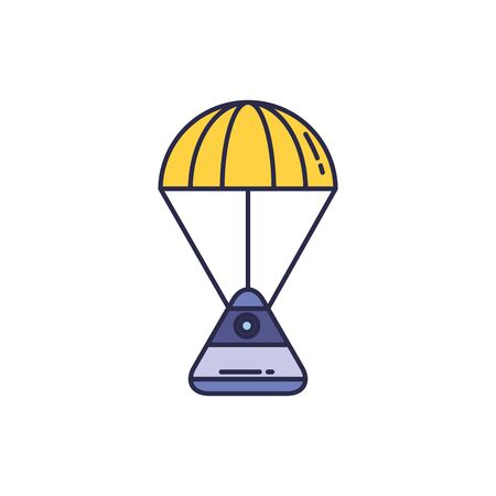 universe space capsule fill style icon