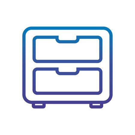 cabinet furniture office line gradient design Ilustração