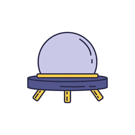 spaceship universe fill style icon