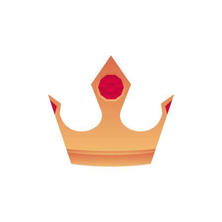 gold crown gem fantasy gradient style