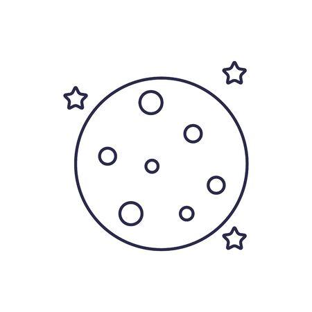 universe moon line style icon