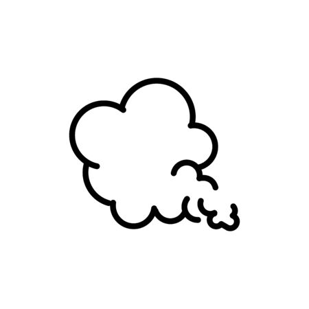 blows steam cloud comic smoke line style 矢量图像