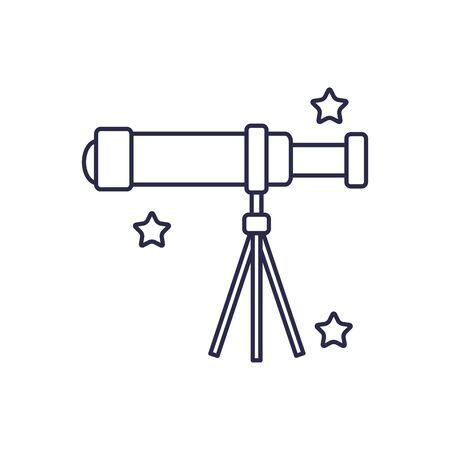 universe telescope line style icon