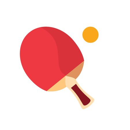 sport ping pong racket with ball flat style