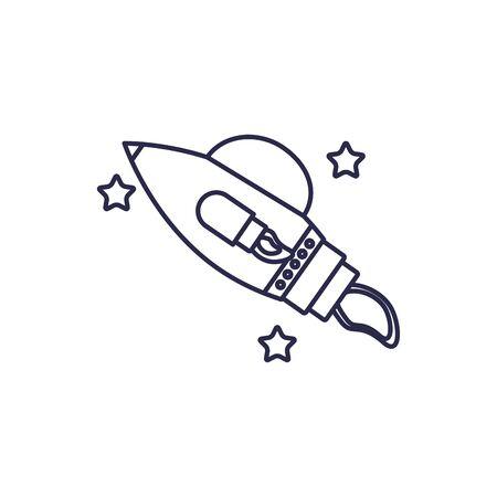 rocket launcher universe line style icon