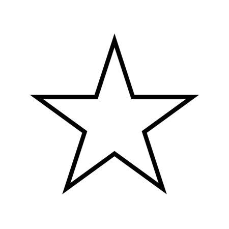 estrella icono de estilo de línea de cinco puntas