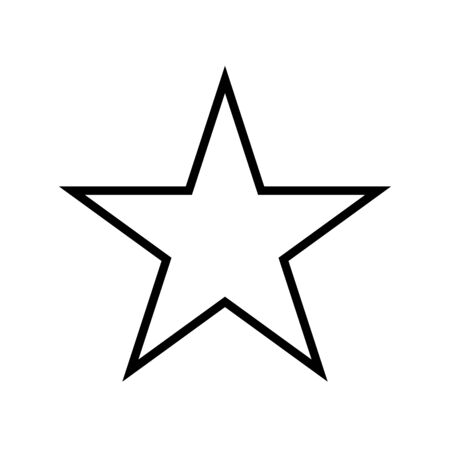 star five pointed line style icon