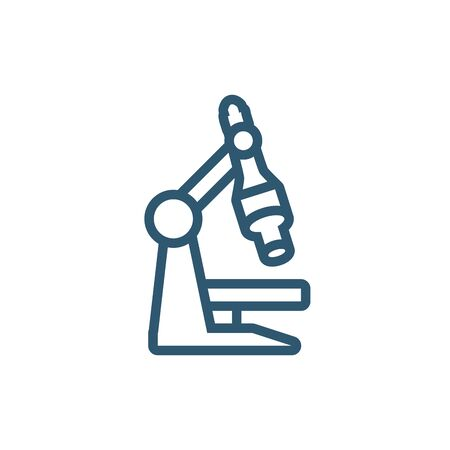 science microscope research line style icon