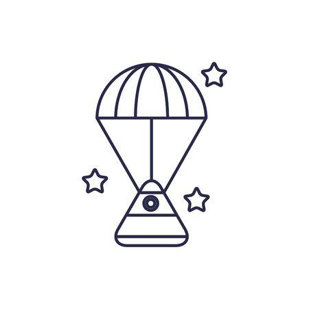universe space capsule line style icon Ilustrace