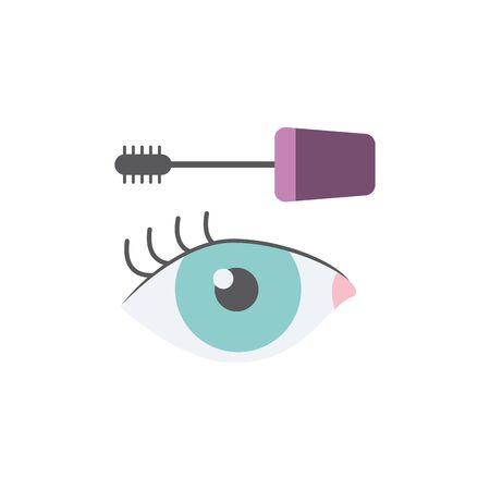 Isolated make up eyelash flat design  イラスト・ベクター素材