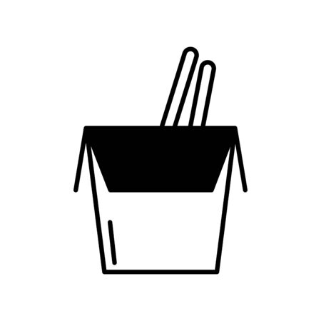 chinese box icon design, Food restaurant menu dinner lunch cooking and meal theme Vector illustration