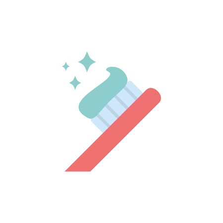 toothpaste and brush icon design, beauty fashion style glamour care healthy and feminity theme Vector illustration Illustration
