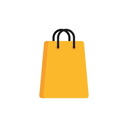 paper bag commerce shopping flat image icon