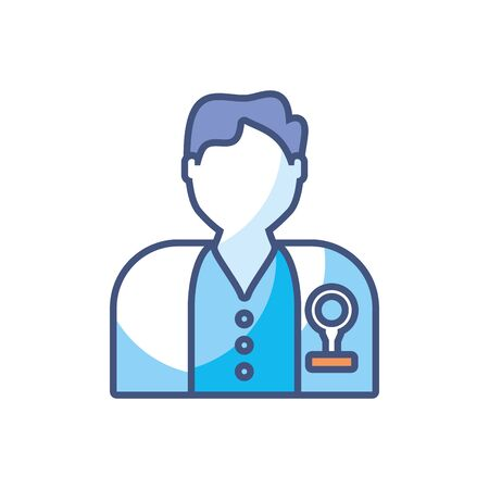 man doctor scientific research fill style icon Ilustrace
