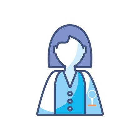 woman scientific profession research fill style icon