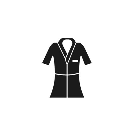 bathrobe of spa silhouette style icon Ilustração