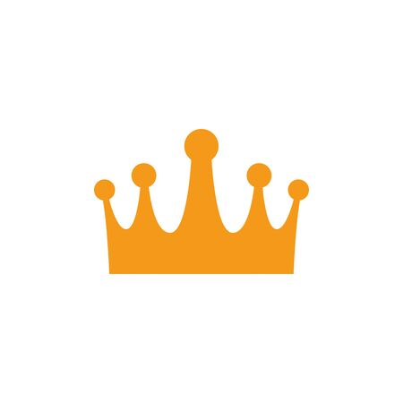 gold crown luxury antique medieval flat design vector illustration