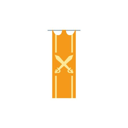 hanging banner antique medieval flat design Ilustrace