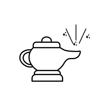 imagination mystery magic line style icon