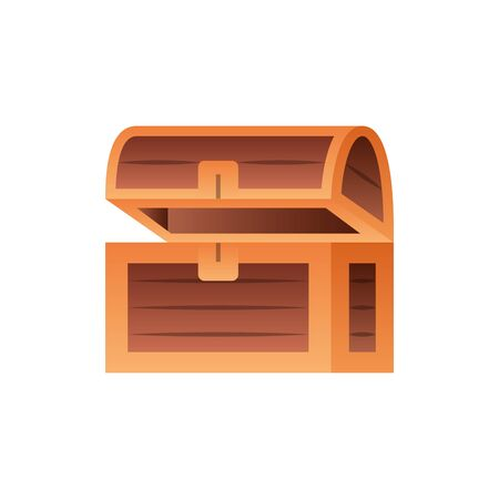 wooden chest fantasy gradient style Illustration