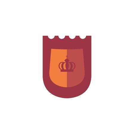shield antique medieval flat design Ilustrace